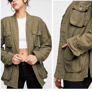Free People Cargo Jacket Army Green Size Medium